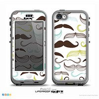 The Fashion Mustache Variety On White Skin for the iPhone 5c nüüd LifeProof Case