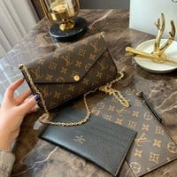 Louis Vuitton Lv Pochette Felicie Chain Wallets #2196