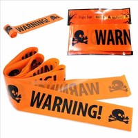 1PC Halloween Props Window Prop Warning line Plastic Skull Head Warning Tape Signs Halloween Decoration Witch Balloons lot