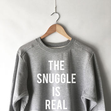 The Snuggle is Real Sweatshirt in Grey