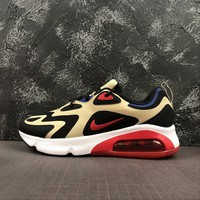 Nike Air Max 200 Team Gold University Red Running Shoes - Best Deal Online