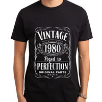 Vintage Aged Of Perfection 35th Men Tshirt