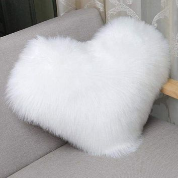 Rabbit Fur Throw Pillow Case