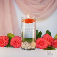 Unity Candle Ceremony with Personalized Couple's Monogram Design Options and Optional Candle and Gift Wrap Options (Each)