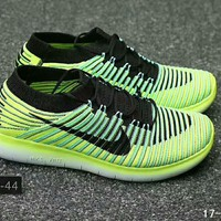 NIKE FREE RN FLYKNIT running shoes F-XYXY-FTQ Green