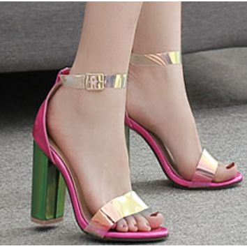 New sexy and versatile colorful platform sandals for womenz