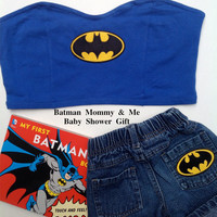 Batman Mom and Batman Baby Shower Gift Mommy and Me Gotham Girl //SuzNews Etsy Store