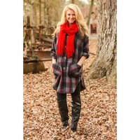 Lines Of Communication Plaid Tunic