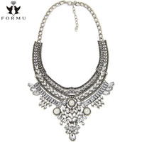 FORMU Boho Necklace Vintage Collar Bridal Jewelry Bib Chokers Statement Necklaces & Pendants Women Evening Dress NK974