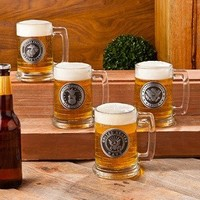 Personalized Military Emblem Beer Stein
