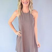 Scallop Mocha Dress