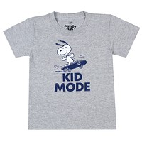 Peanuts Toddler Boys' Snoopy Kid Mode Skateboarding Graphic T-Shirt