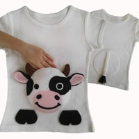 cow farm animal shirt, farm baby clothes, farm birthday shirt, baby farmer, farm birthday party, kids clothes, baby clothes, barn yard, farm