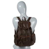 Breckenridge Faux Distressed Leather Backpack  | Icing