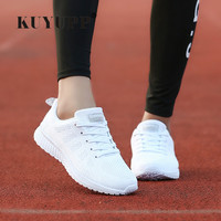 Fashion Women Shoes Breathable Air Mesh Trainers 2017 Spring New Low Toe Sport Casual Shoes Striped Lace Up Women Shoes YD145