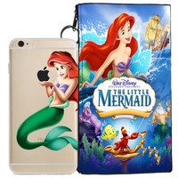 Disney's Little Mermaid Holding Logo Clear Case For Apple Iphone 5/ 5s /SE + Pouch