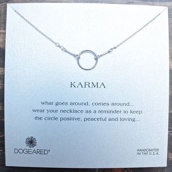 dogeared karma necklace 16 inch in sterling silver