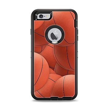 The Basketball Overlay Apple iPhone 6 Plus Otterbox Defender Case Skin Set