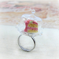 Miniature Cake Ring Glass Cake Plate Birthday Cake by CuteAbility