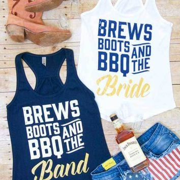 Brews Boots BBQ and the Band - Nashville Tank tops
