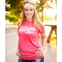 Women's Sweet Southern Mess T-Shirt - Heathered Red