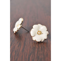 Forget Me Not Earrings in White
