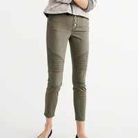 Womens Military Skinny Ankle Pants | Womens Bottoms | Abercrombie.com