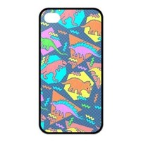 Treasure Design Funny Nineties Dinosaur Pattern APPLE IPHONE 4or4s Best Silicone Case