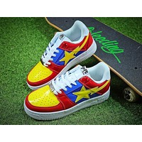 Bape Sta Sneakers Blue Yellow Shoes - Sale
