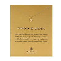 Dogeared - Reminder Good Karma Happy Lotus Necklace 16""