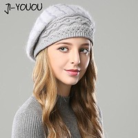 Knitted and Faux Fur Beanie Hat