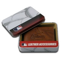 St. Louis Cardinals Leather Bifold Wallet (Brown)