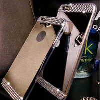 Rhinestone Bling Bling Mirror Soft Phone Case