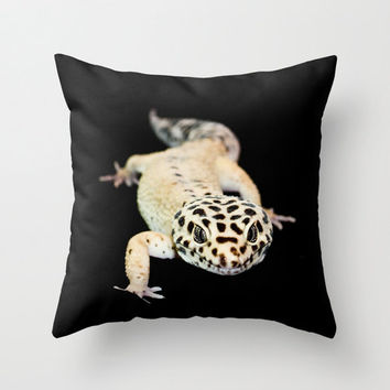Animal Throw Pillow Cover Photography Print Polyester Gecko Rooster Miniature Horse Bison