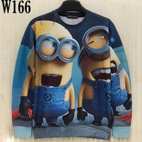 FG1509 [Mikeal] New fashion 3d sweatshirt for men/women 3d hoodies printed Cute cartoon Animation Characters casual hoody W166