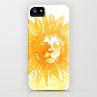 Lion Sunflower iPhone & iPod Case by Iconwalk