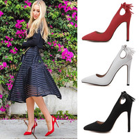 Tassels High Heel Hollow Out Shoes = 4814761220
