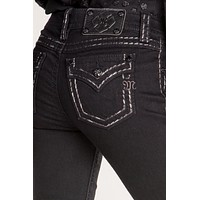 Original Border Stitch Boot Cut Jeans
