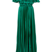 Ivy Satin Pleated Gown | Moda Operandi