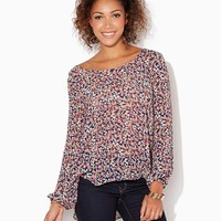Secret Gardens High-Low Blouse | Tops - Fashion Apparel, Winter Blooms | charming charlie