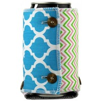 The Sherry Koozie in Blue, Green and Pink by the Frat Collection