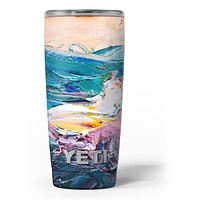 Abstract Oil Strokes - Skin Decal Vinyl Wrap Kit compatible with the Yeti Rambler Cooler Tumbler Cups