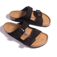 Arizona Sandal - Black Suede