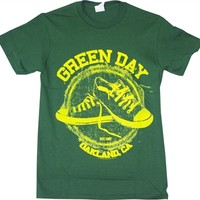 Green Day All Star Sneakers t-shirt available online from OldSchoolTees.com | Large selection of vintage tees from Bands, Movies, Brands, TV shows, and more available from Old School Tees