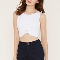 Knotted Hem Crop Top | Forever 21 - 2000153356