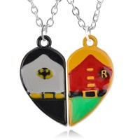 Batman and Robin BFF Necklace Set