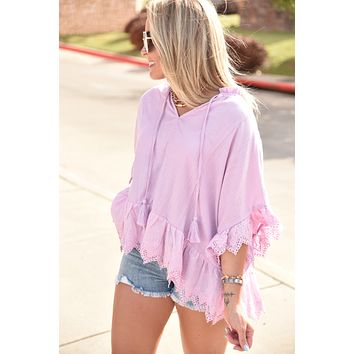 The Serena Top - Lilac