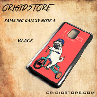 Haters Gonna Hate Pug Bicycle Snap on Black White and 3D Samsung Galaxy Note 4 Mini Case