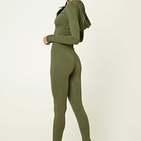 Hooded Zip-Front Jumpsuit