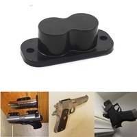 Gun Magnet Concealed Gun Holder 25LB Rating with Cap and Screws for Desk Bed Car